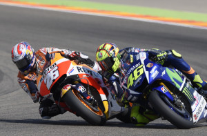 Rossi and Pedrosa Aragon